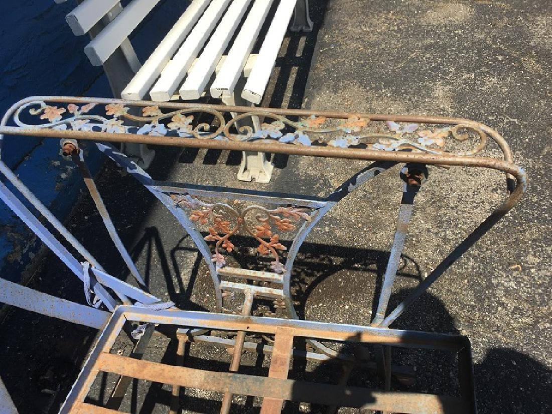 Vintage Wrought Iron Glider - 2
