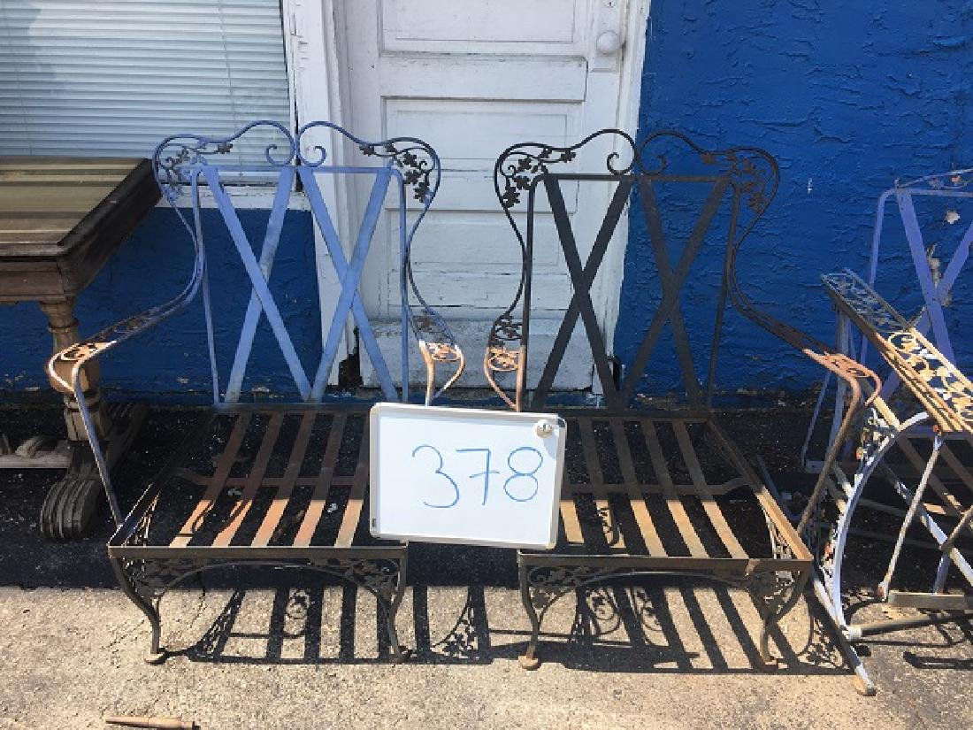 Vintage Wought Iron Arm Chairs