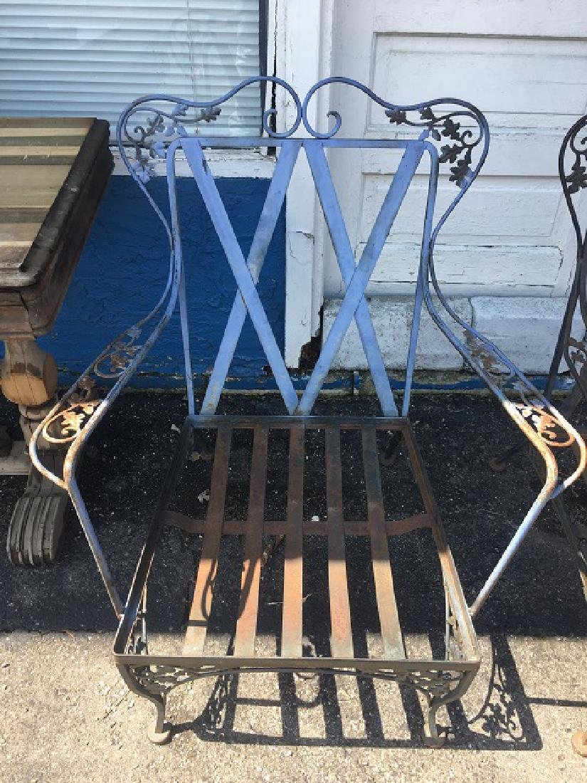 Vintage Wought Iron Arm Chairs - 2