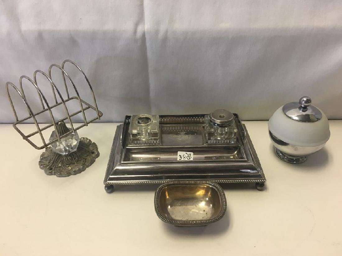 Dealer's Lot of Silver Plate and a Chase Mustard Pot