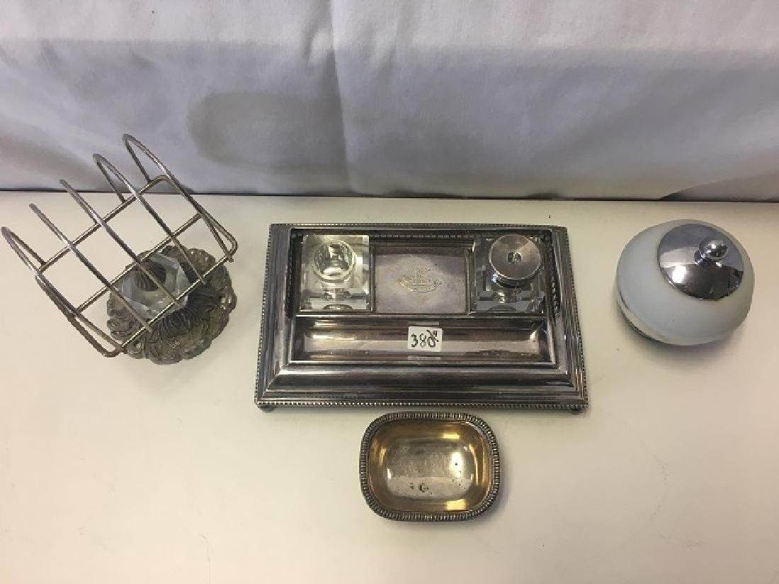 Dealer's Lot of Silver Plate and a Chase Mustard Pot - 3
