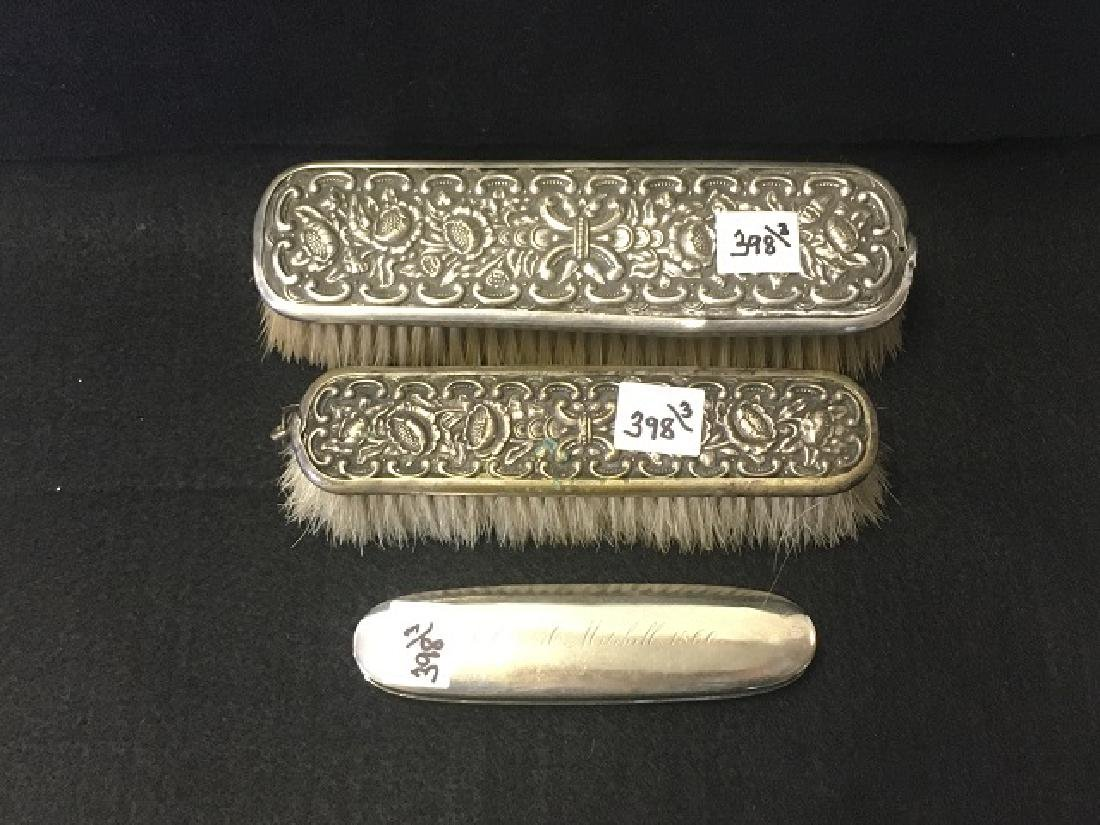 Partial Plated Silver Ladies Groming items