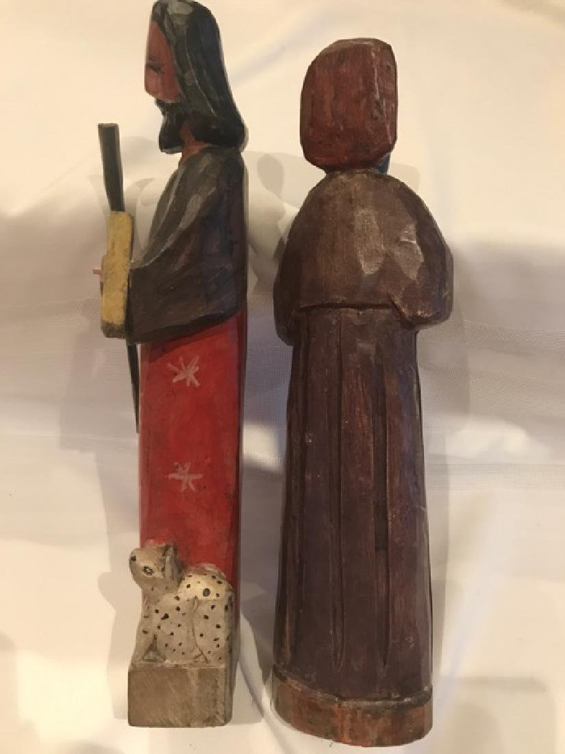 Two Carved Wood Religious  Figures - 2