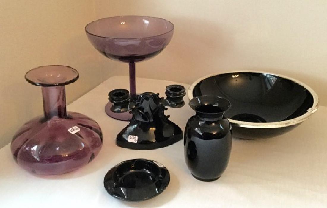Vintage Amethyst Glass Lot (6)