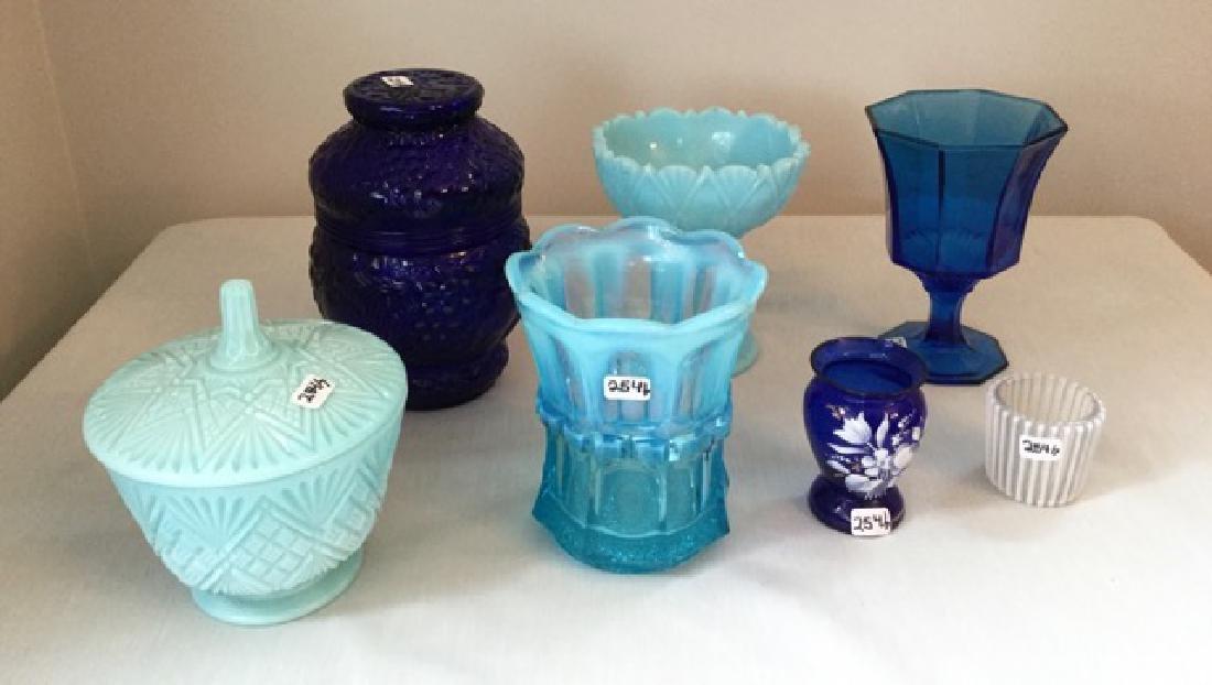 Vintage Blue Glass Lot - 2