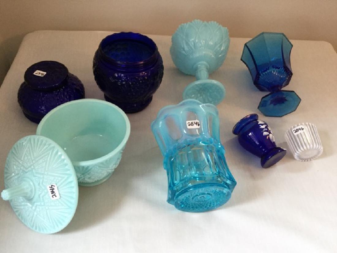 Vintage Blue Glass Lot - 3