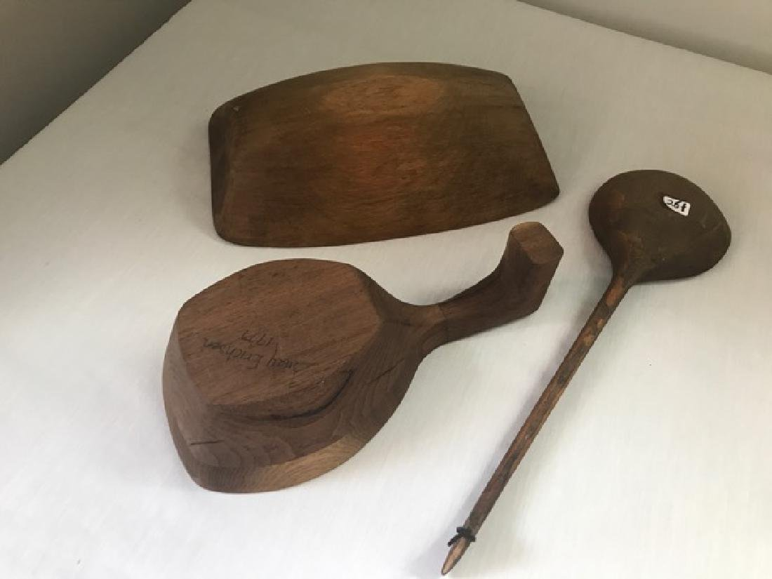Handcrafted Wooden Spoons and a Bowl - 2
