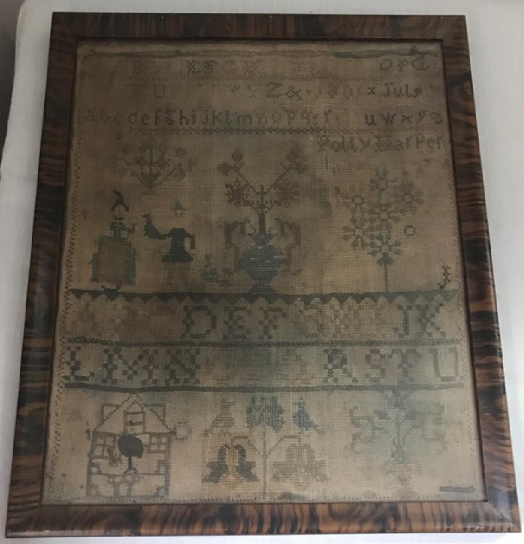 Framed Early 19th C. Sampler