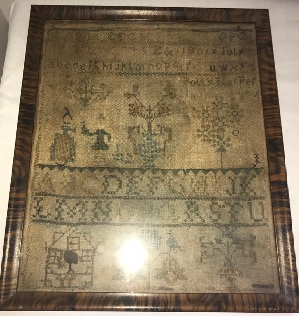 Framed Early 19th C. Sampler - 2