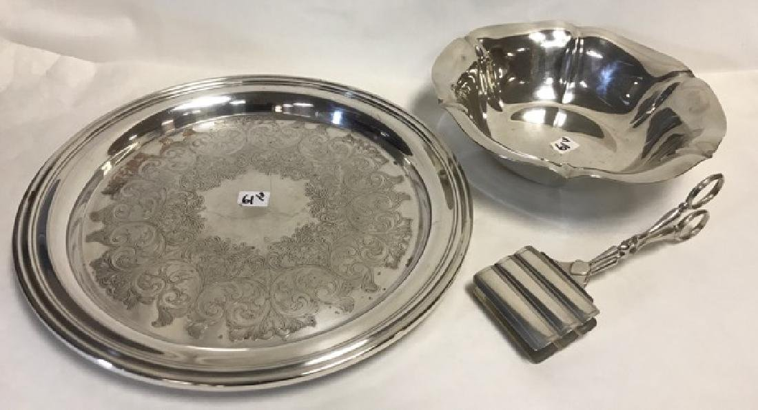 Three Pieces of Silver Plate