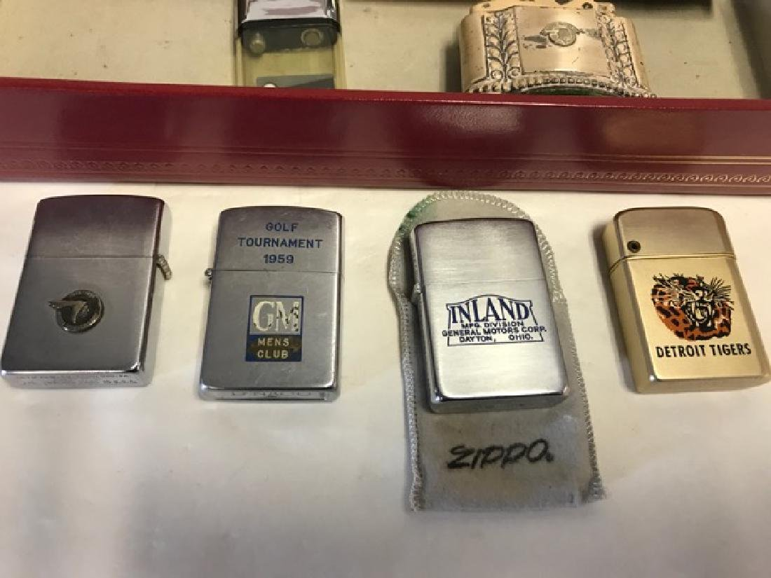 Lot of Nine Automobile/Detroit Related Lighters - 3