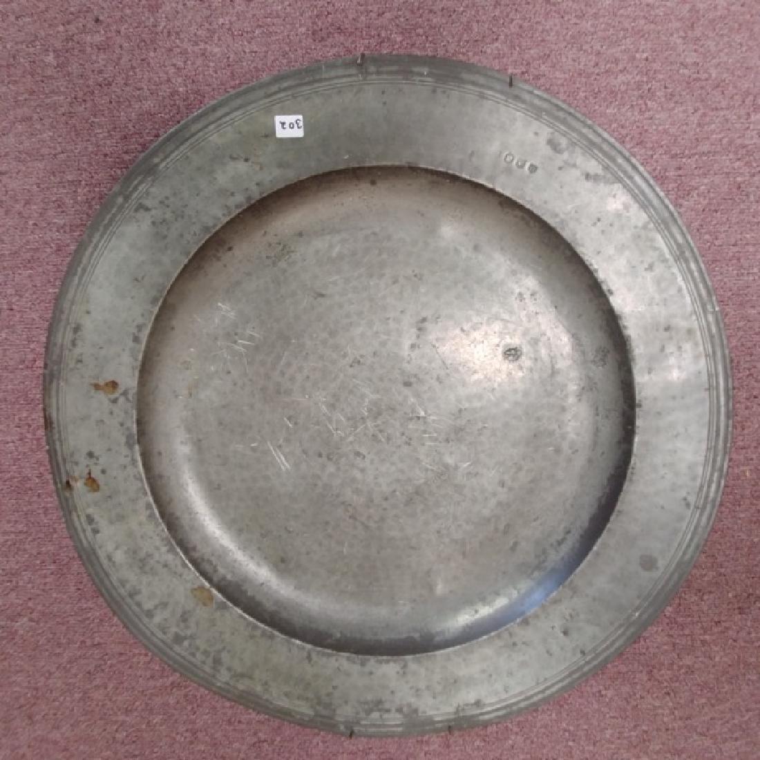 Large Pewter Platter