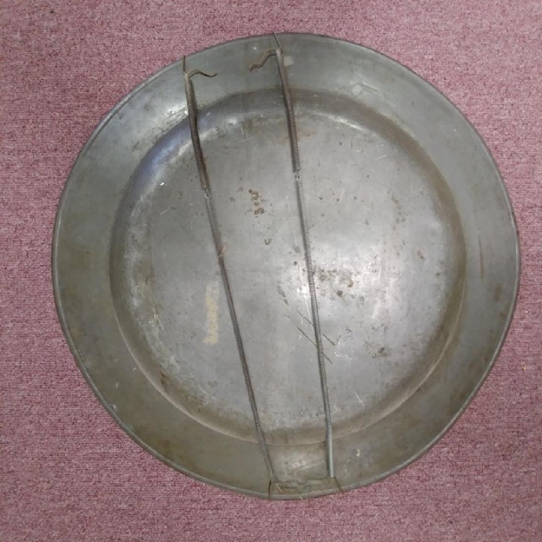 Large Pewter Platter - 2