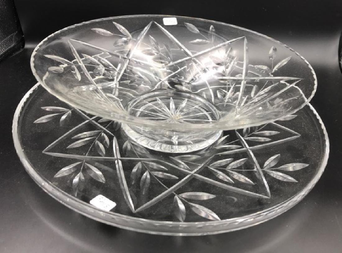 German Crystal Platter and Bowl