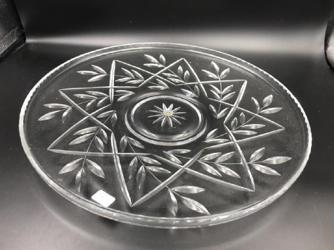 German Crystal Platter and Bowl - 2