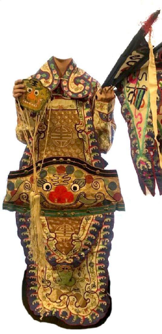 Late 19th C. Traditional  Chinese Opera Costume