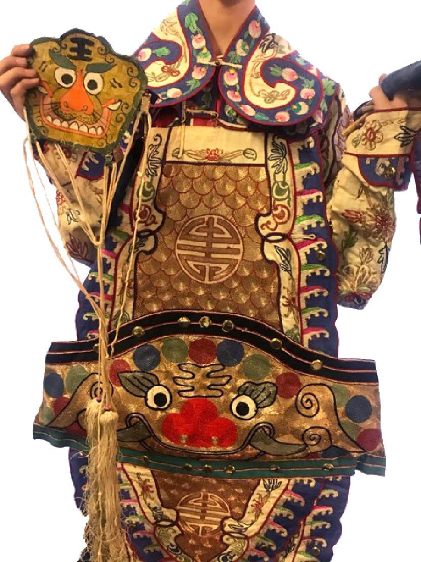 Late 19th C. Traditional  Chinese Opera Costume - 3
