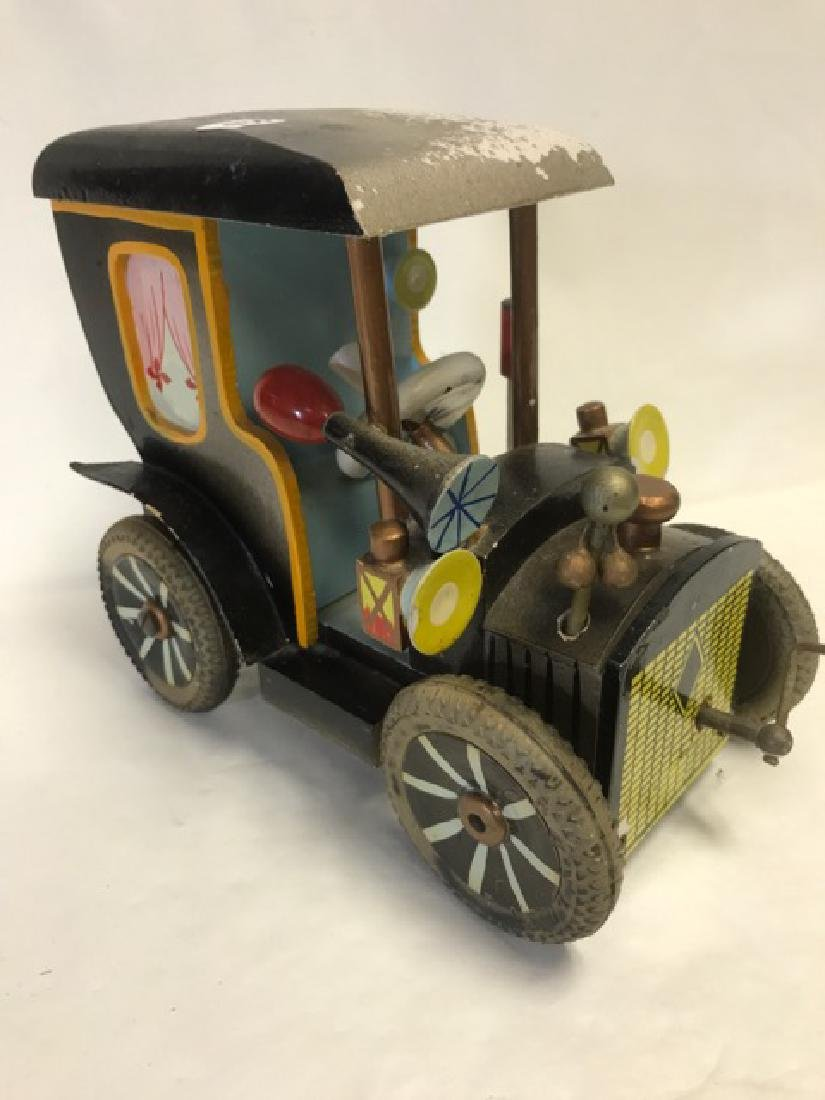 German Wooden Car Musical Bank