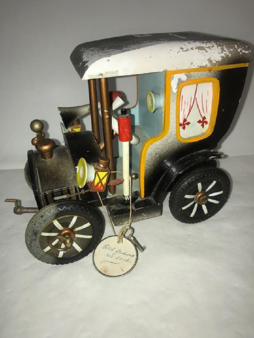 German Wooden Car Musical Bank - 2