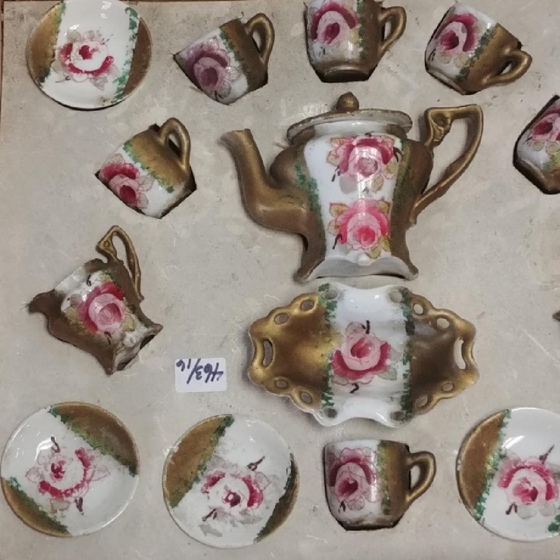 Antique Doll's Porcelain Tea Set - 2