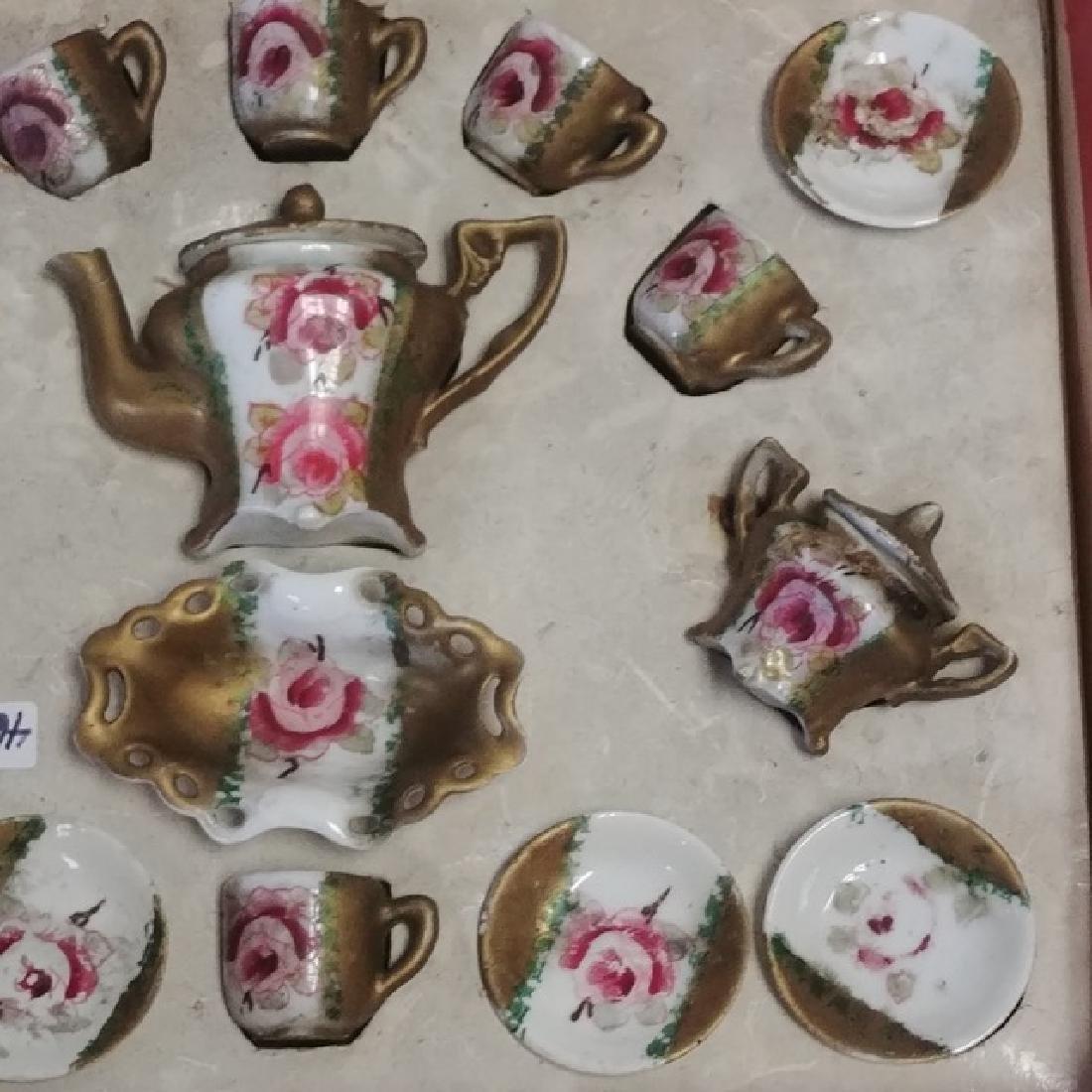Antique Doll's Porcelain Tea Set - 3