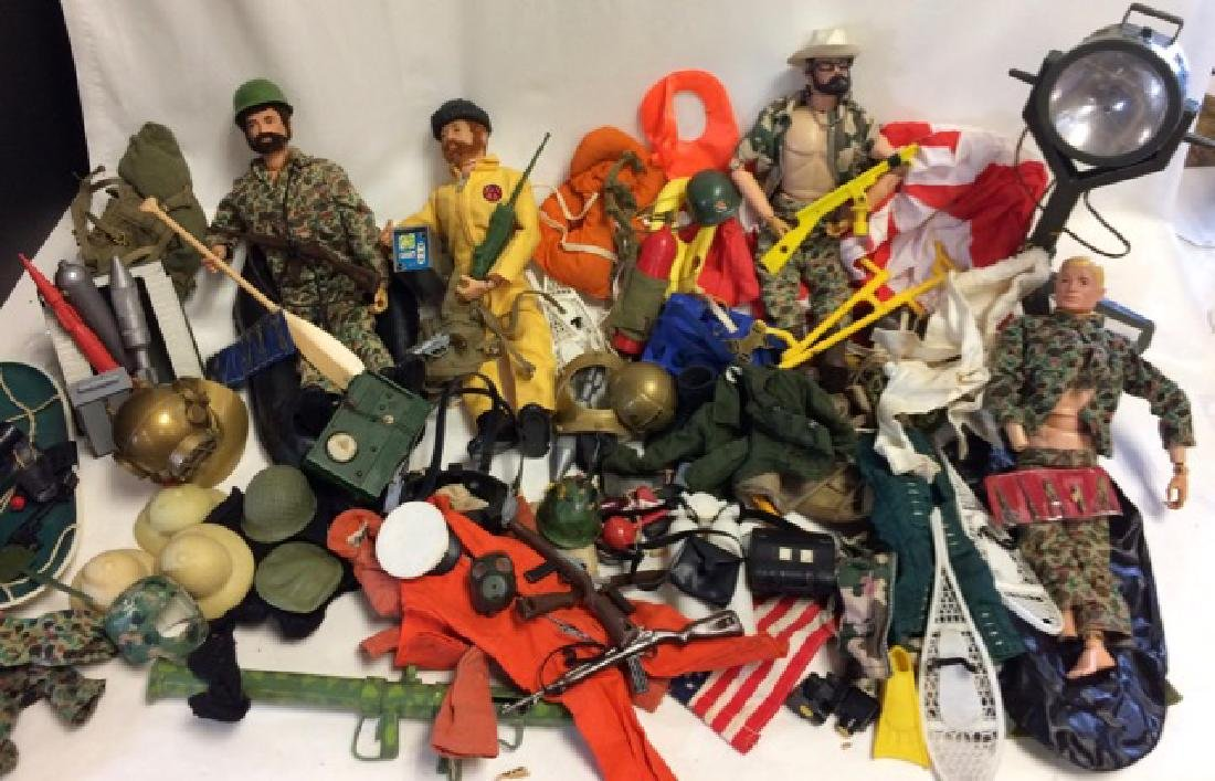 Large Lot of Early 1960's GI Joe Dolls & Accessories