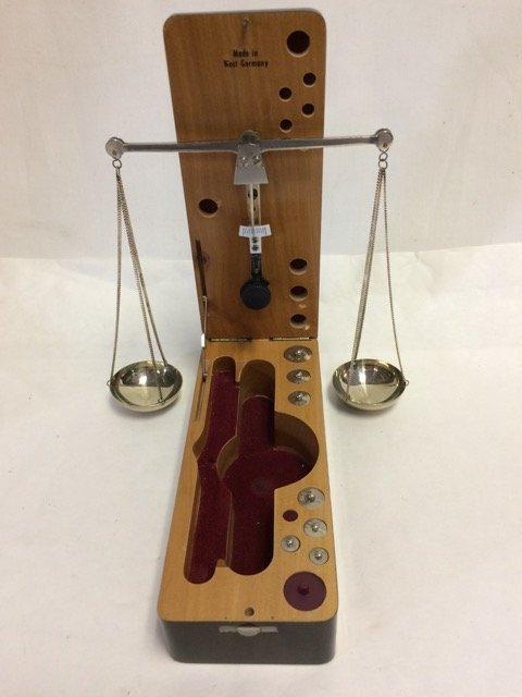 West German Scales in High Gloss Wood Case