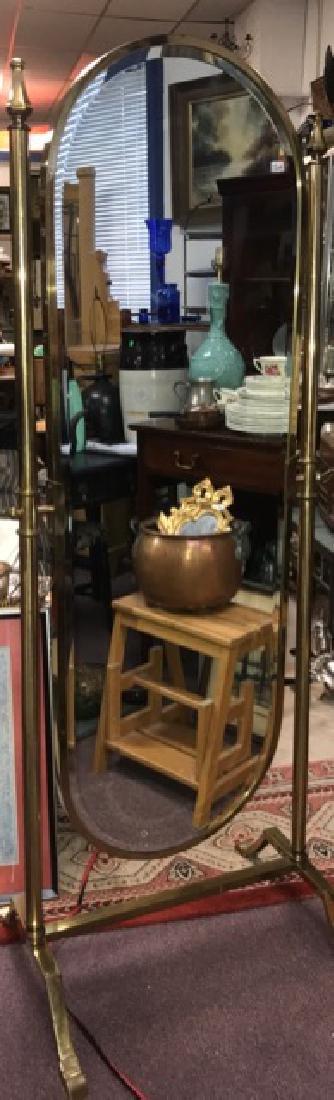 Brass Cheval Mirror