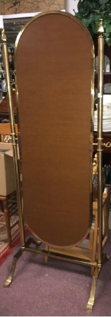Brass Cheval Mirror - 2