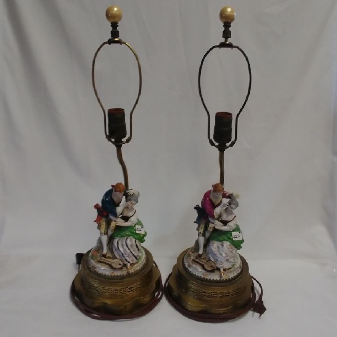 Pair Classical Porcelain Lamps