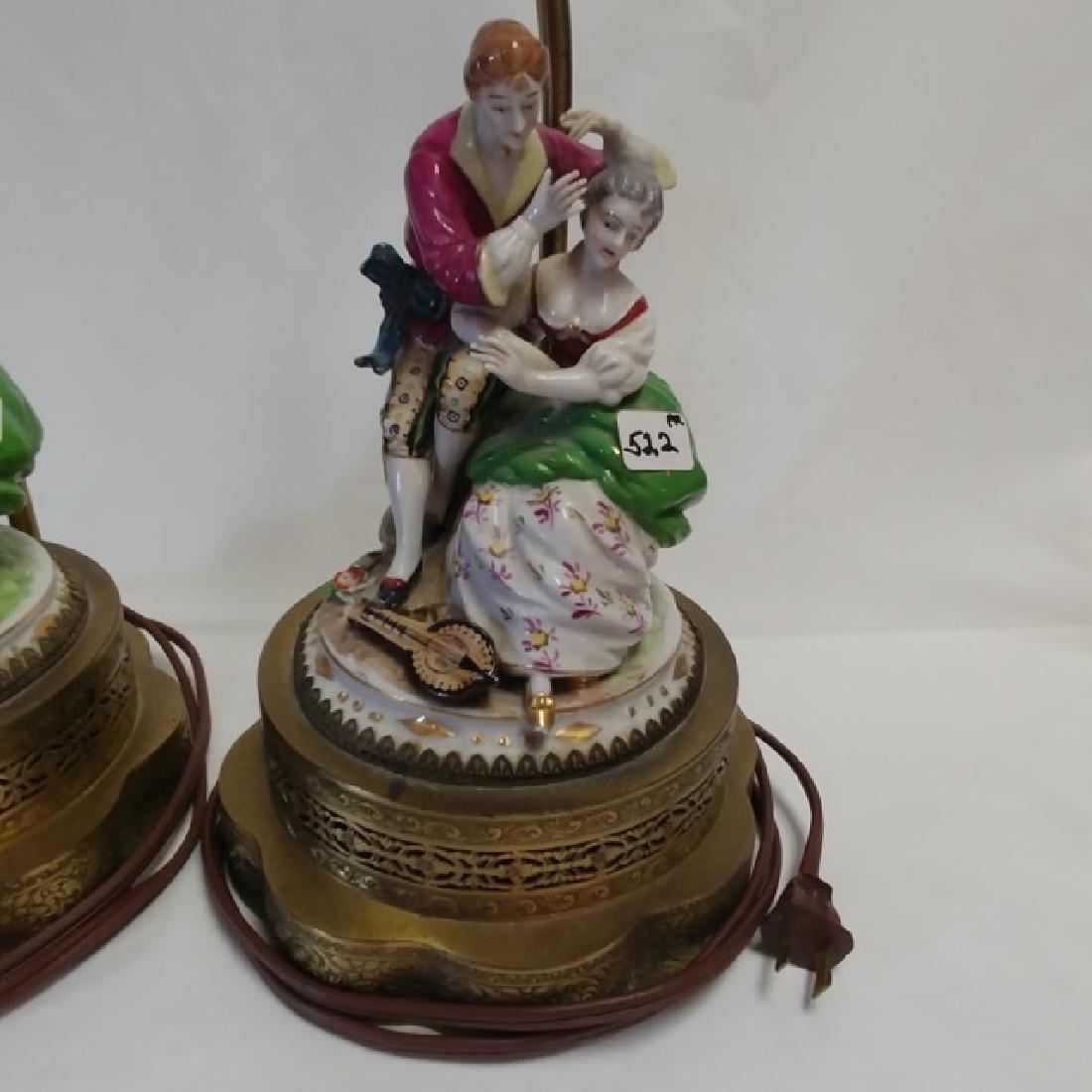 Pair Classical Porcelain Lamps - 3