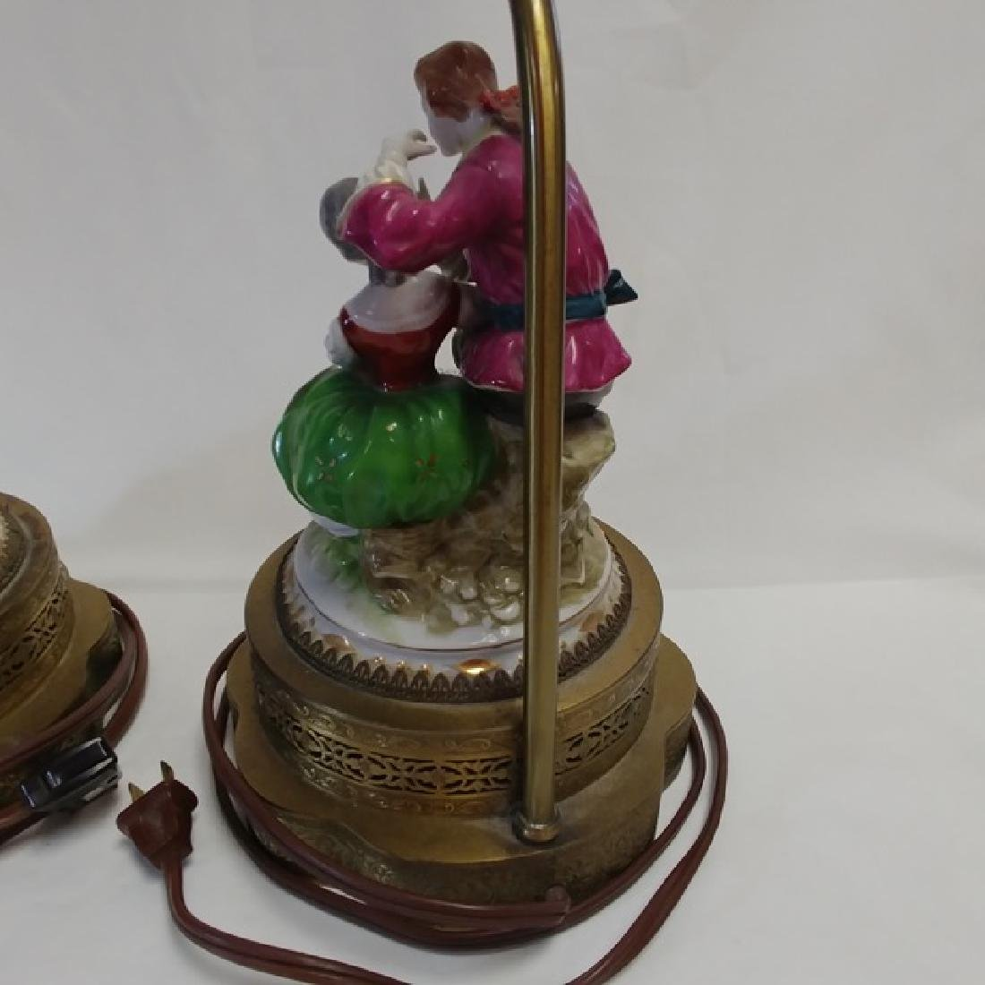 Pair Classical Porcelain Lamps - 6