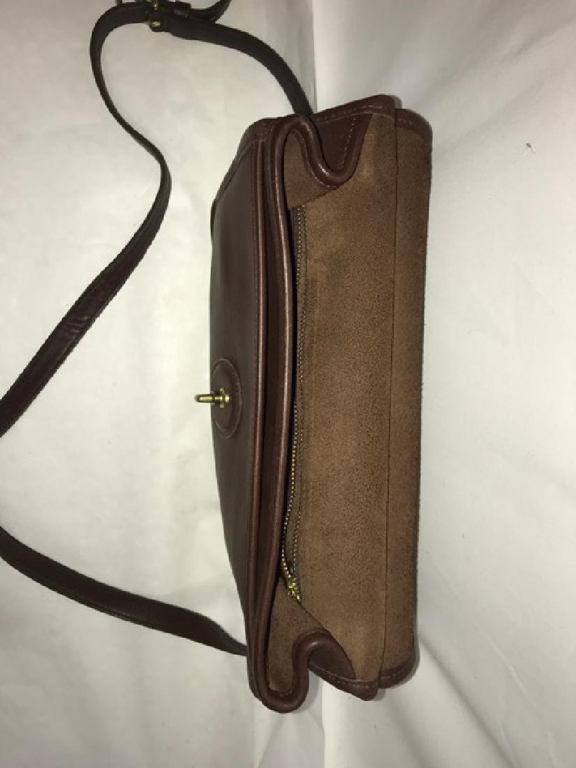 Leather Coach Handbag - 3