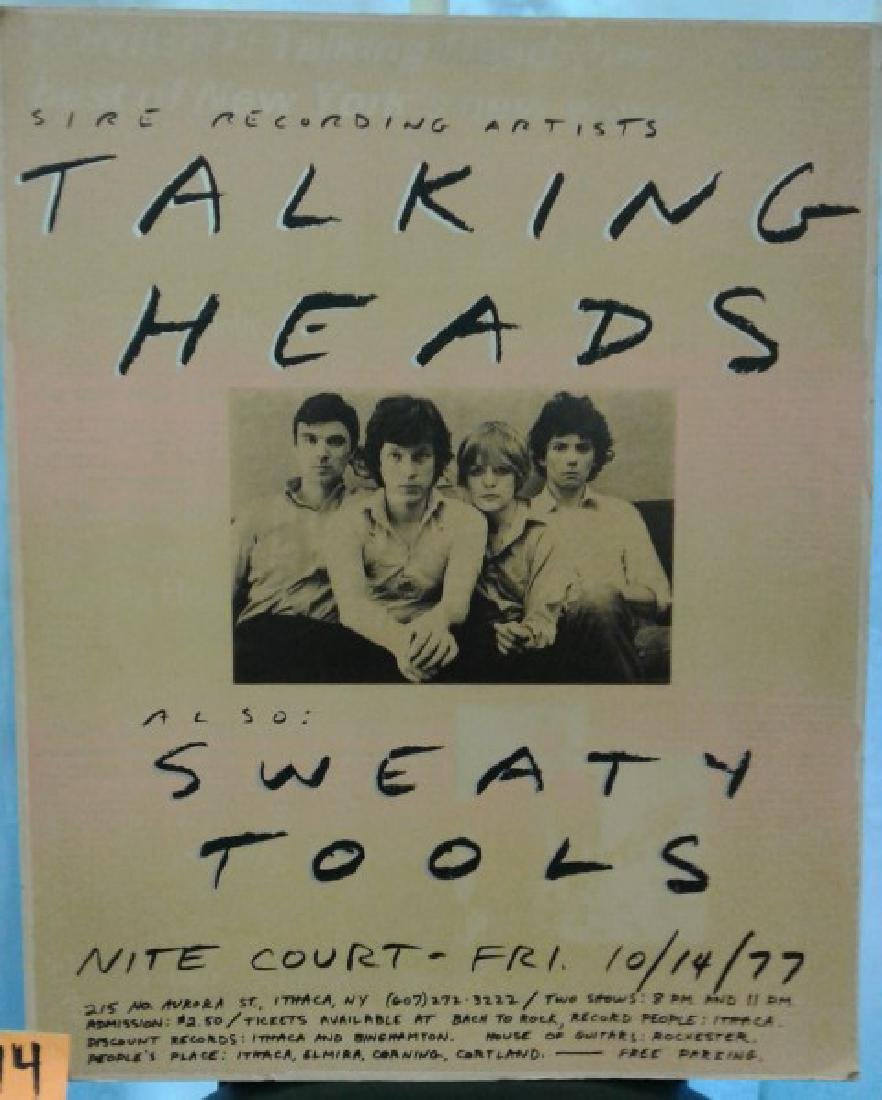 Talking Heads Poster C. 1977