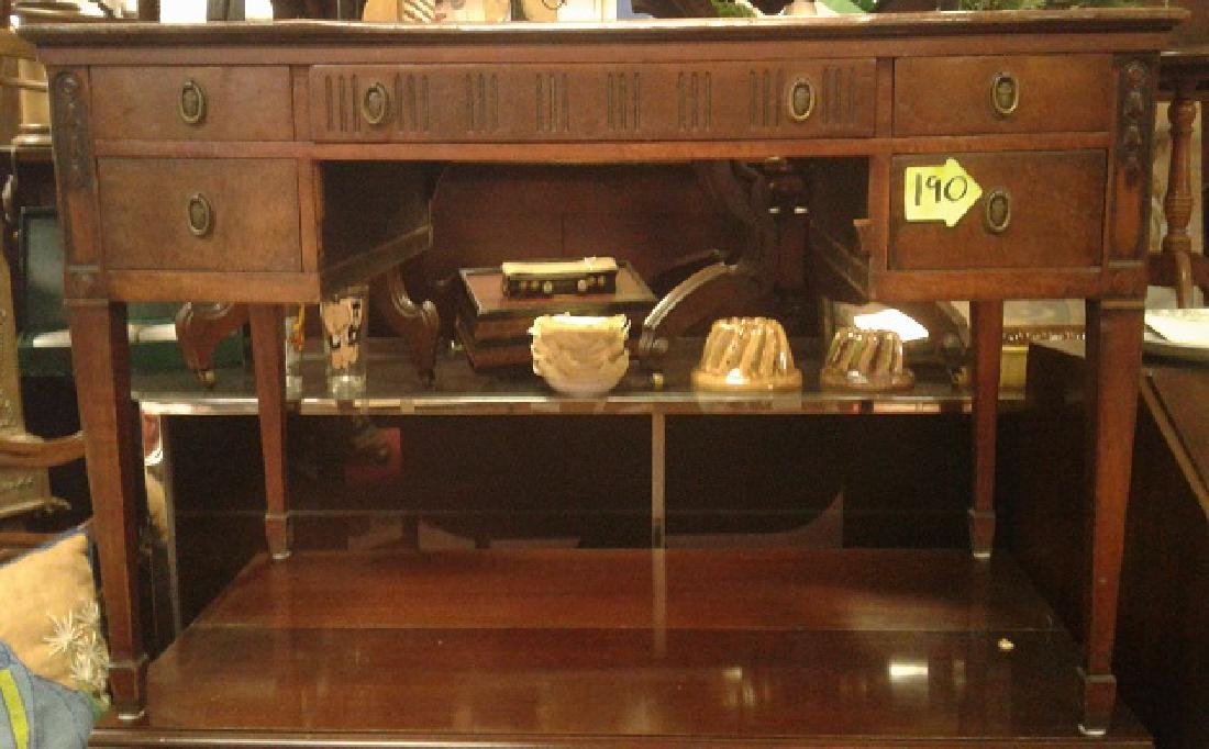 Adams Style Bellflower Carved Desk