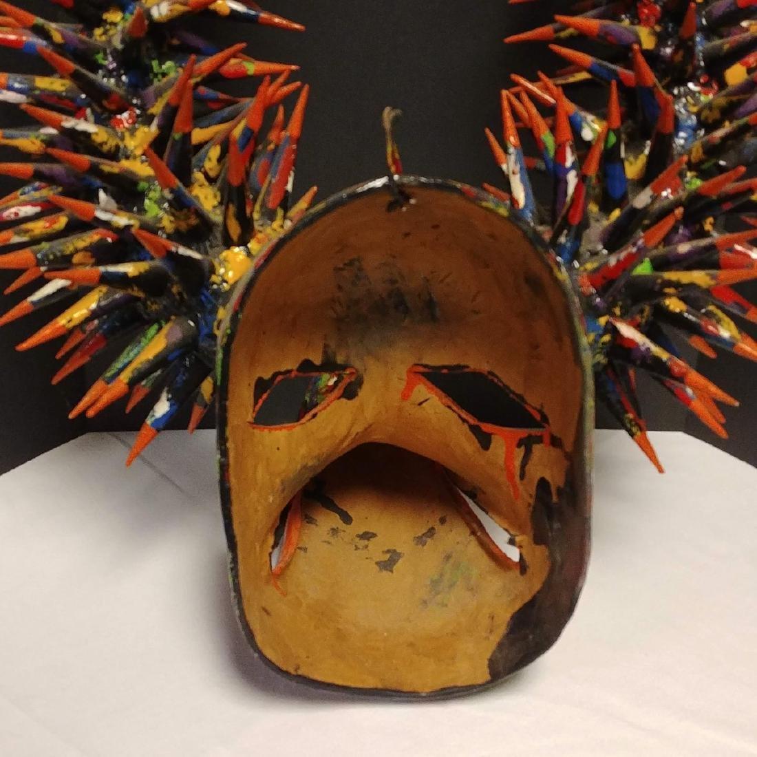 Paper Mache Carnival La Joya Mask - 4