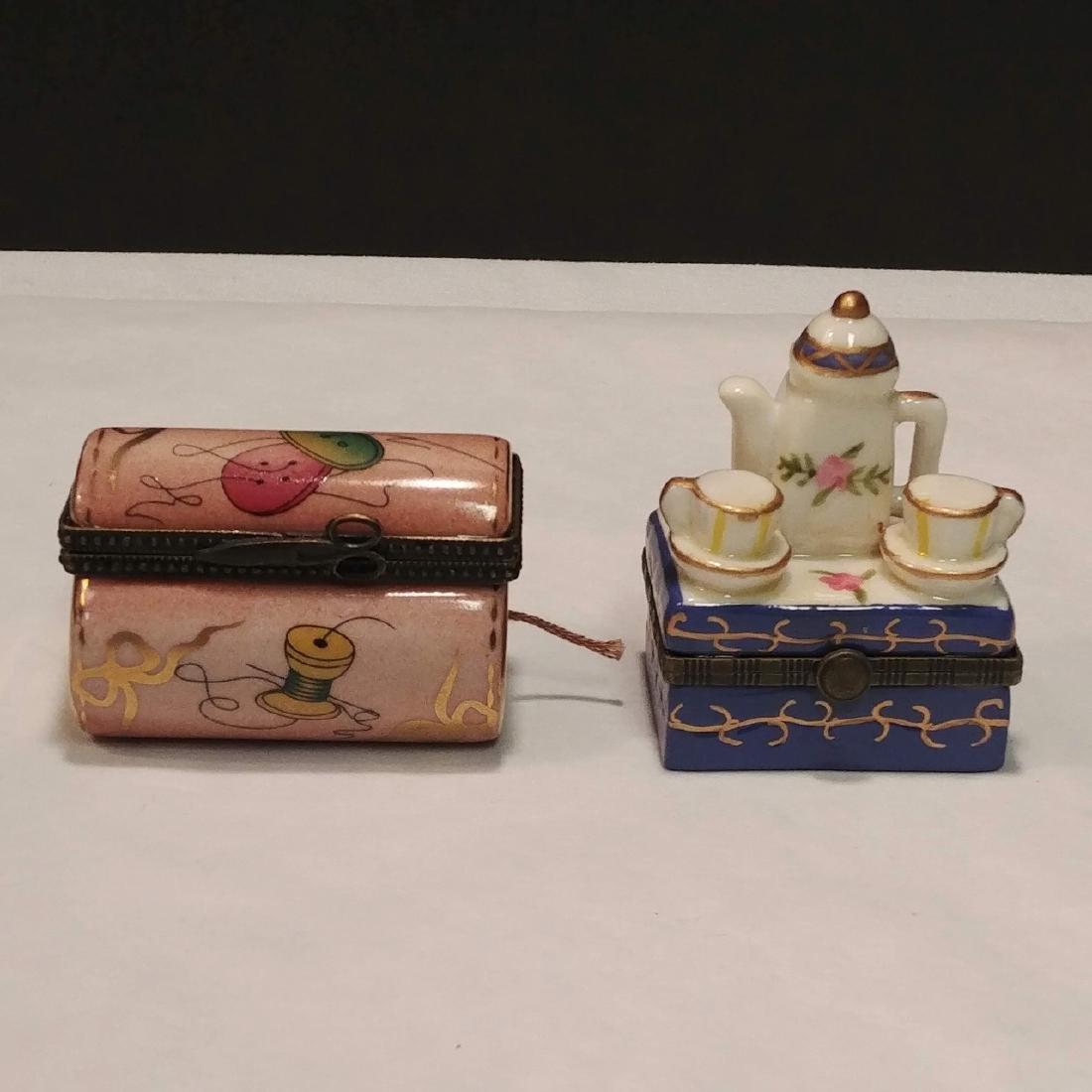 Ladies Lot of Pink & White Trinket Boxes - 10