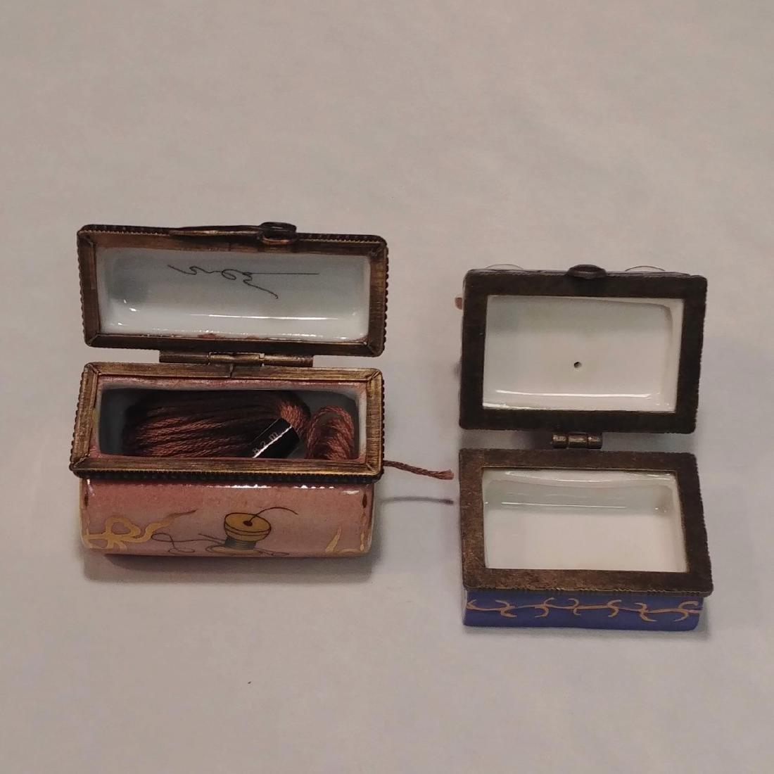 Ladies Lot of Pink & White Trinket Boxes - 3