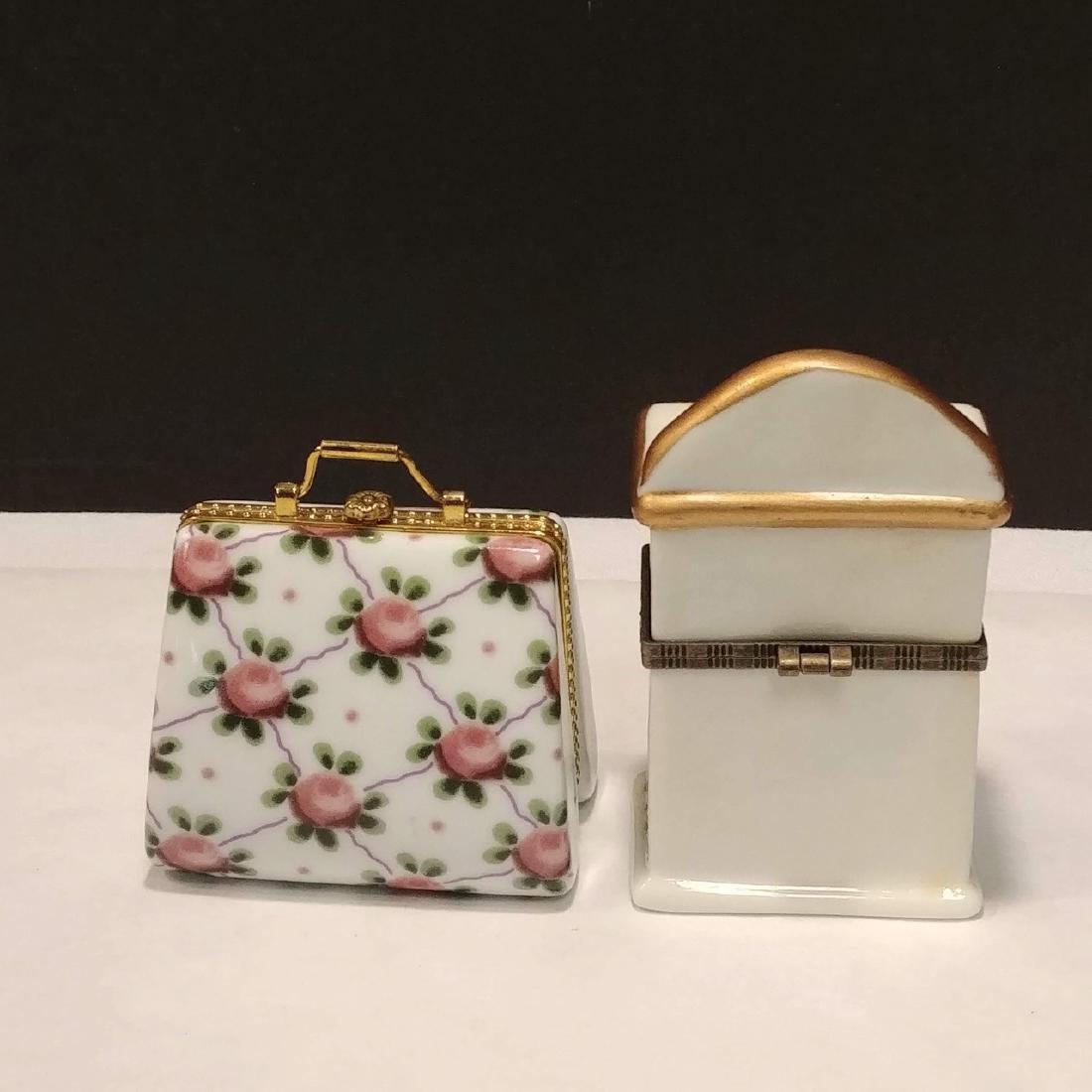 Ladies Lot of Pink & White Trinket Boxes - 7