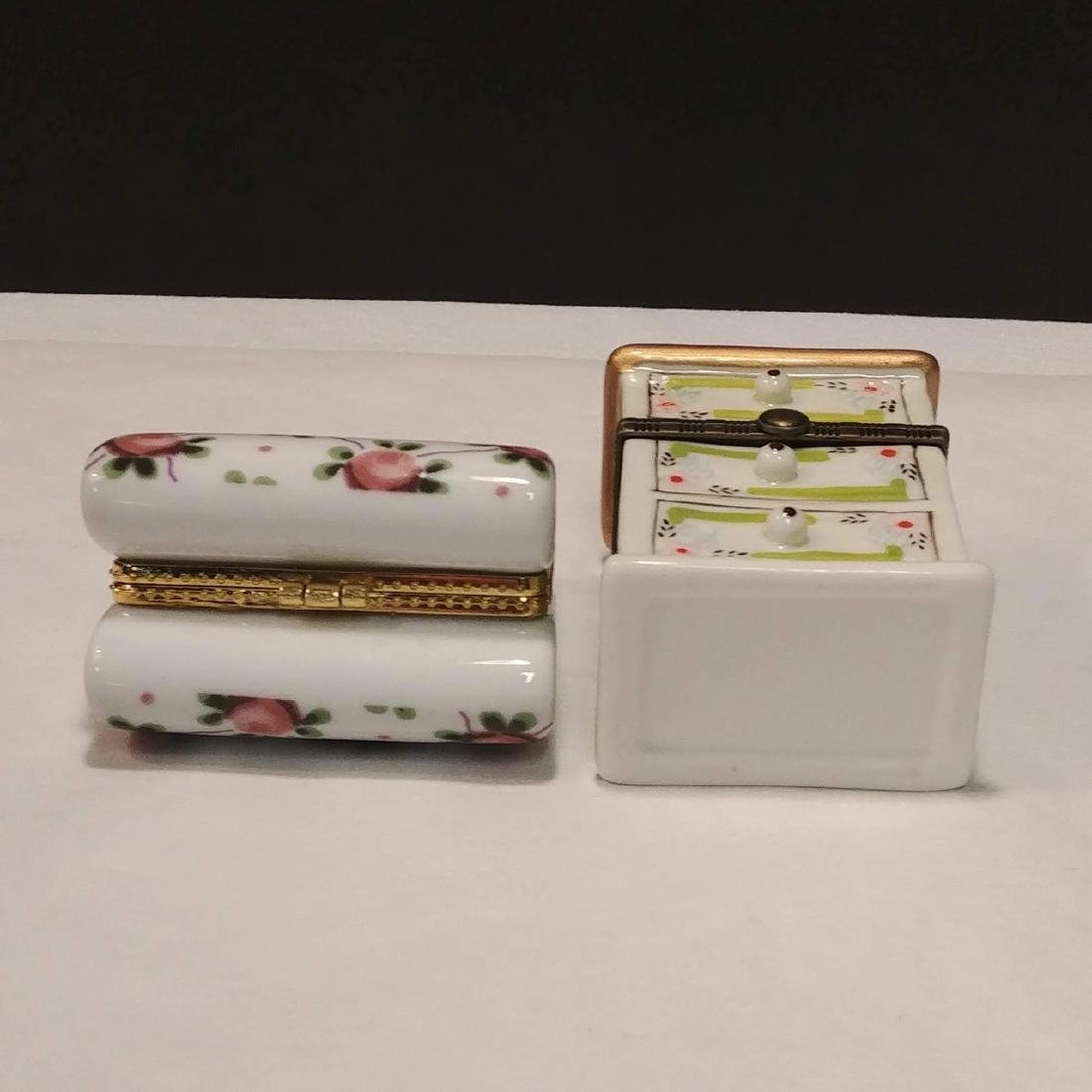 Ladies Lot of Pink & White Trinket Boxes - 8