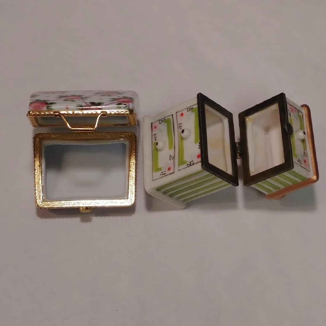 Ladies Lot of Pink & White Trinket Boxes - 9
