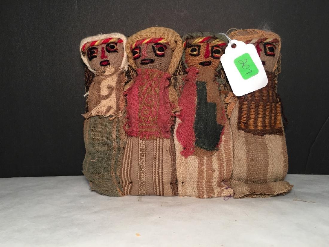 Vintage Chancay Folk Art Cloth Dolls