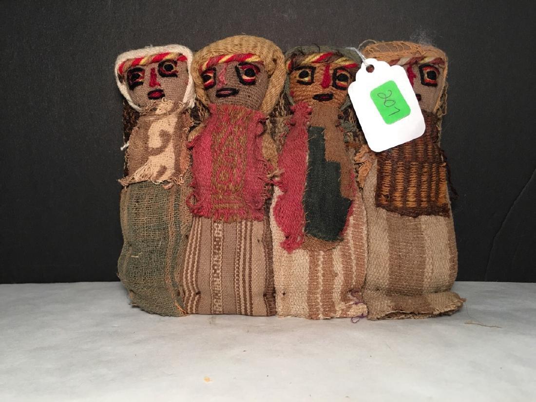 Vintage Chancay Folk Art Cloth Dolls - 2