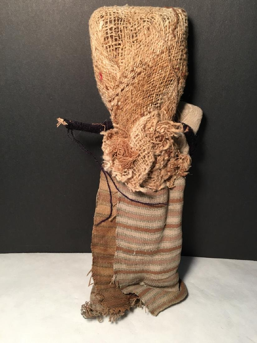 Vintage Chancay Folk Art Cloth Figure with Child - 3