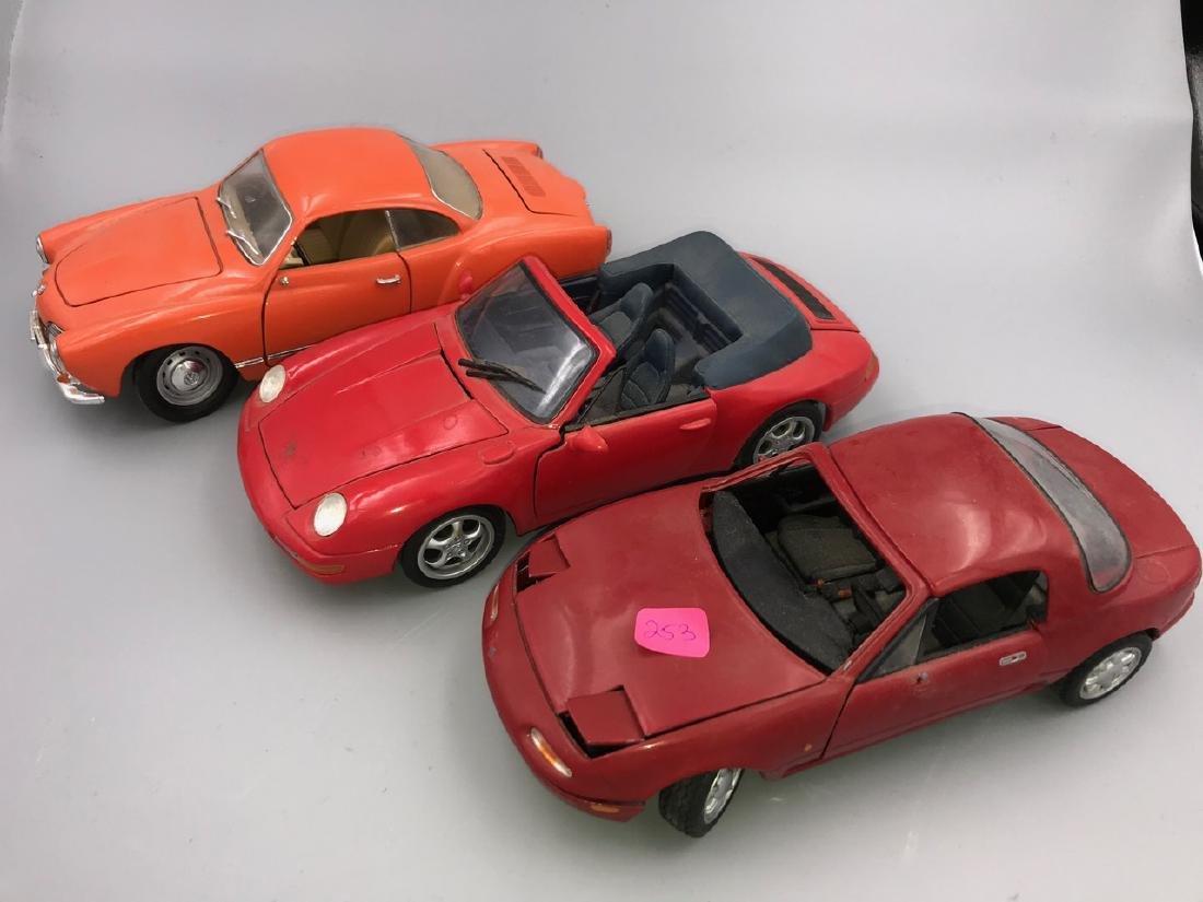 Three 1/18 Scale Model Sports Cars - 2
