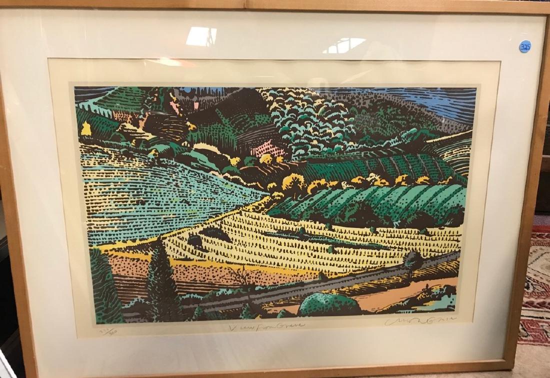 Milton Glaser Ltd Ed Print - View From Greve
