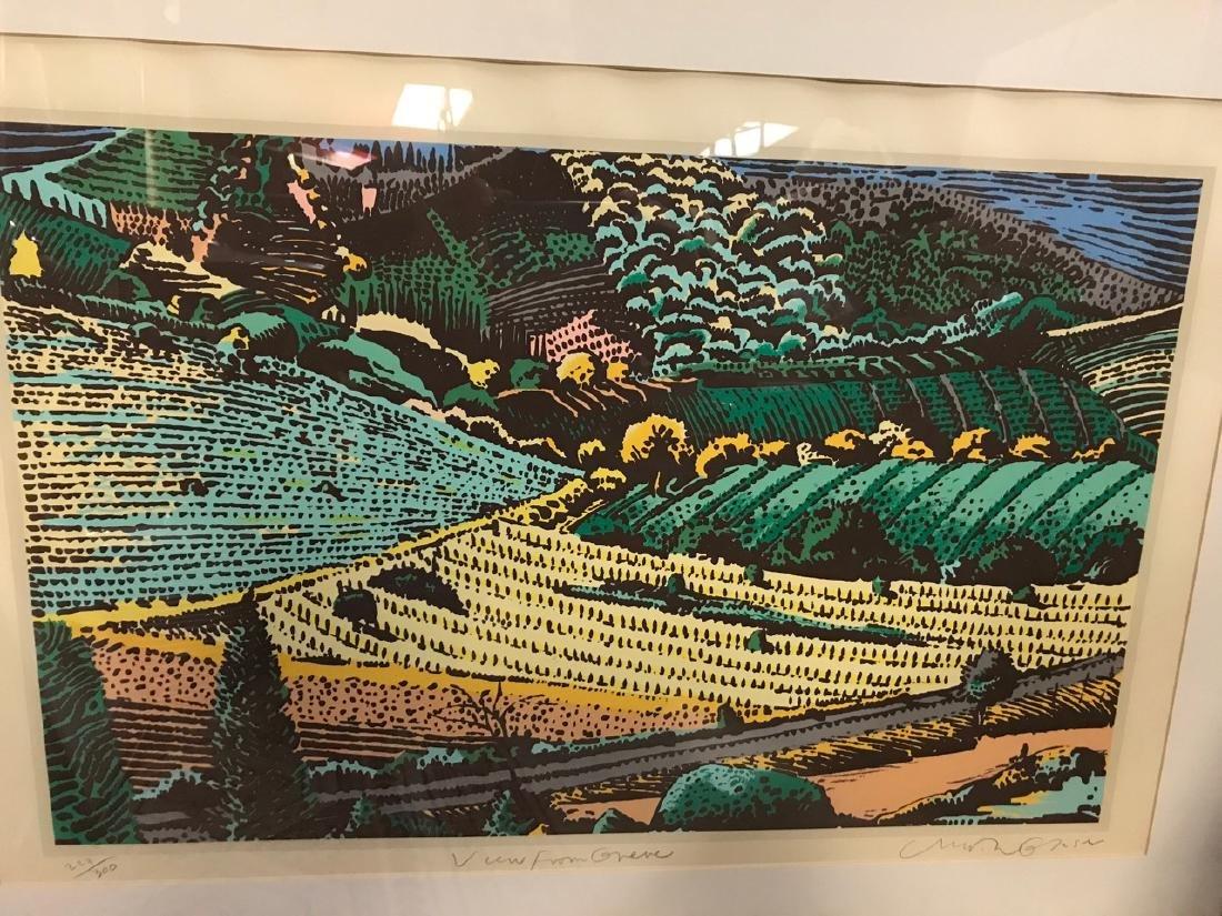 Milton Glaser Ltd Ed Print - View From Greve - 2