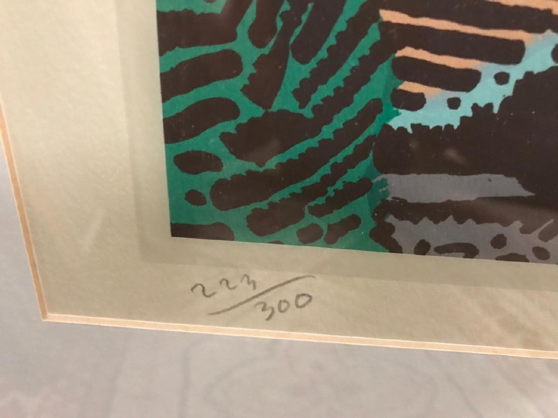 Milton Glaser Ltd Ed Print - View From Greve - 3