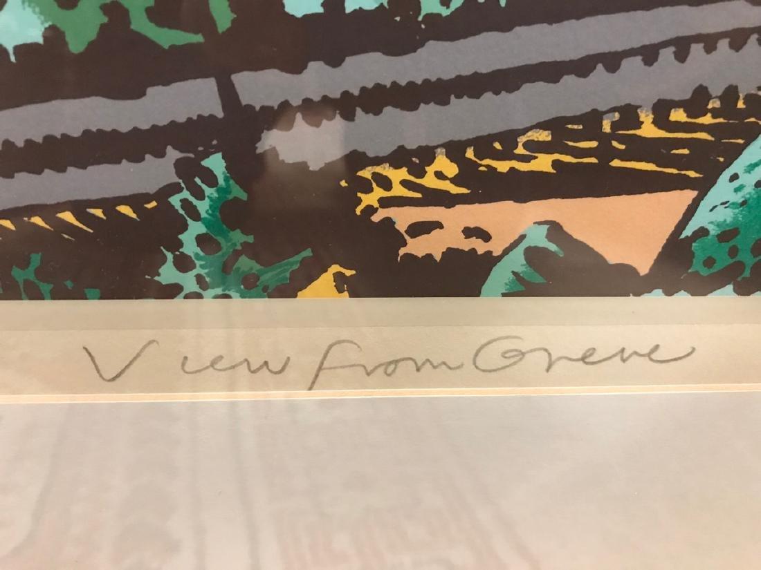 Milton Glaser Ltd Ed Print - View From Greve - 4