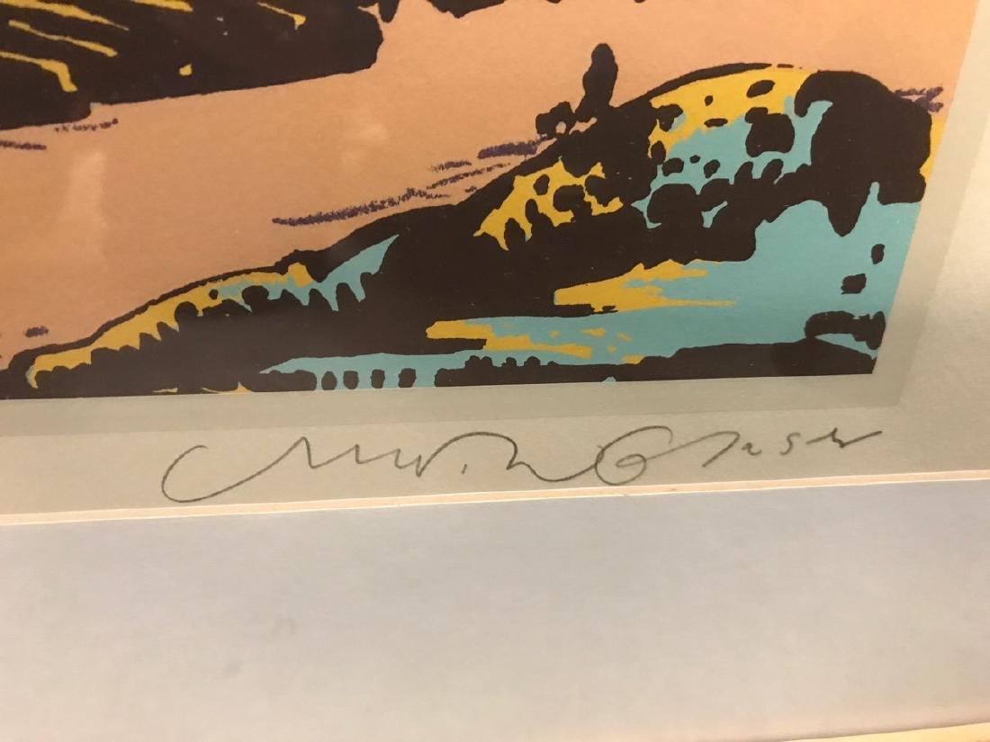 Milton Glaser Ltd Ed Print - View From Greve - 5